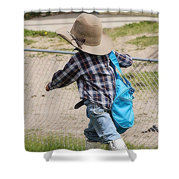 Heading For The Chute Shower Curtain