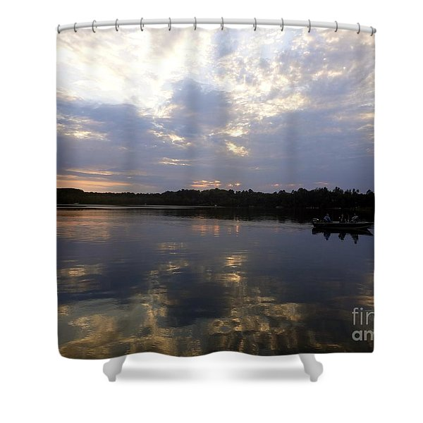 Heading Home On Lake Roosevelt In Outing Minnesota Shower Curtain