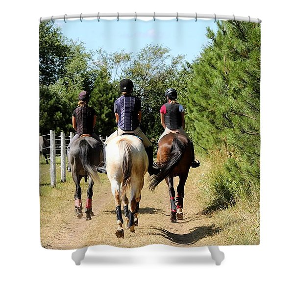 Heading To The Cross Country Course Shower Curtain