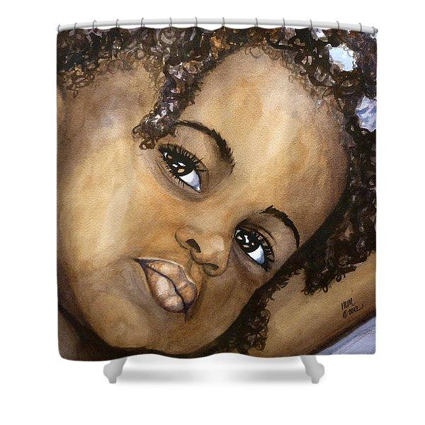 Nigerian Eyes Shower Curtain