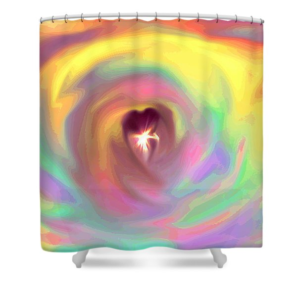 Heart Abstract Shower Curtain
