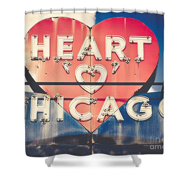 Heart Of Chicago Shower Curtain