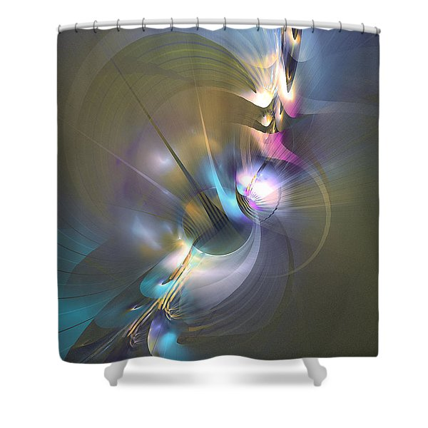 Heart Of Dragon - Abstract Art Shower Curtain