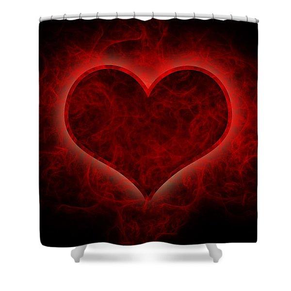 Heart's Afire Shower Curtain
