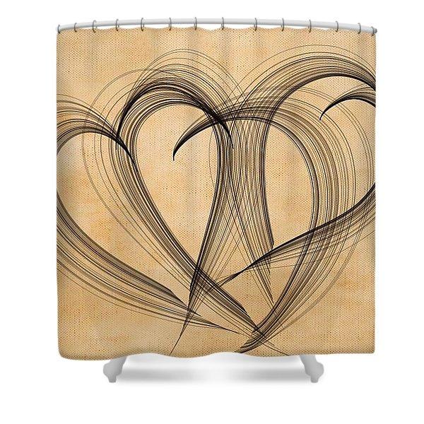 Hearts Of Plenty Shower Curtain