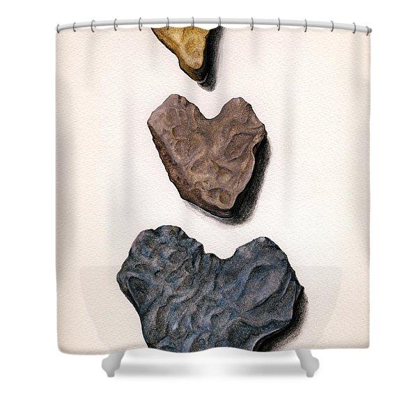 Hearts Rock Shower Curtain