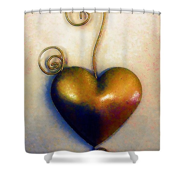 Heartswirls Shower Curtain