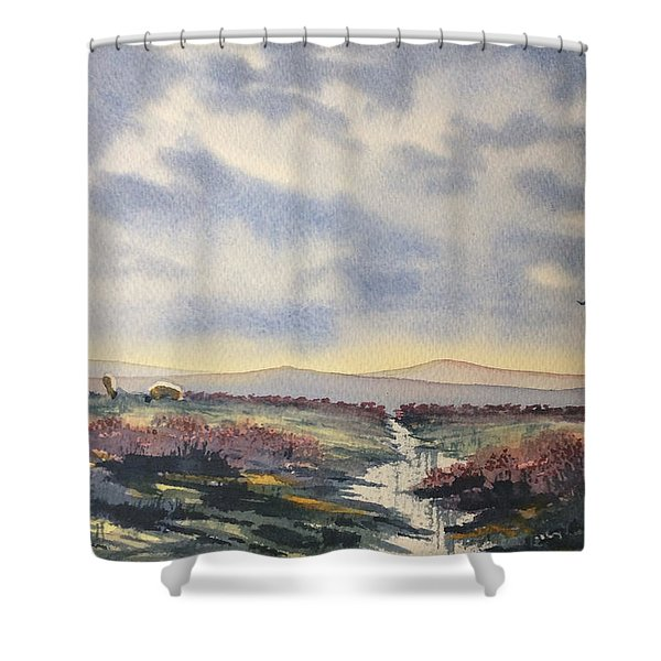 Heather On The Road To Fairy Plain  Shower Curtain