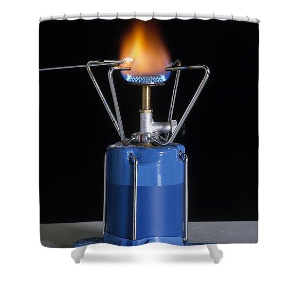 Heating Sodium Chloride Shower Curtain