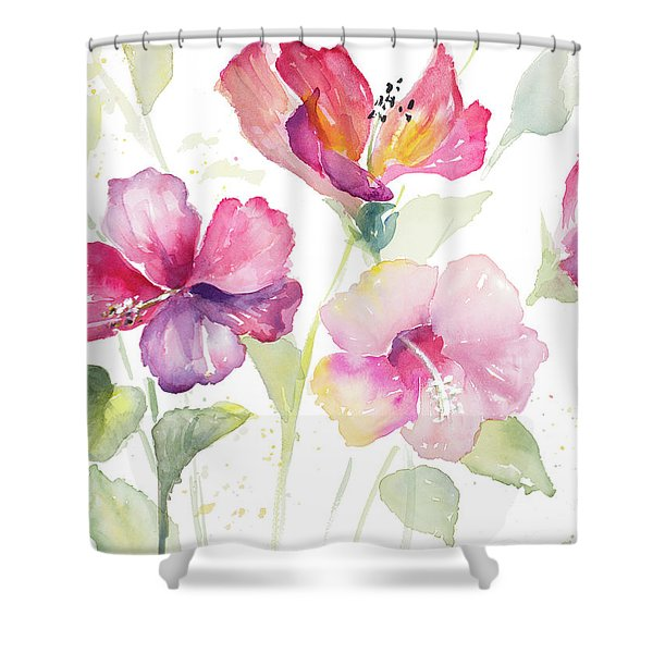 Heavenly Hibiscus Shower Curtain