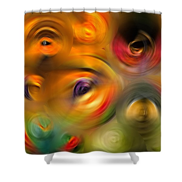 Heaven's Eyes - Abstract Art By Sharon Cummings Shower Curtain