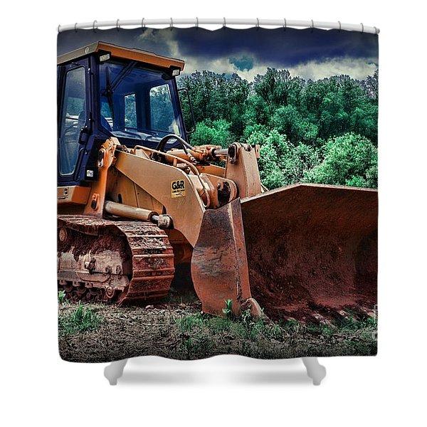 Heavy Construction Equipment - Bulldozer Shower Curtain