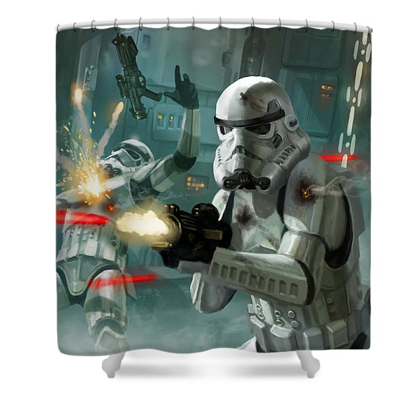 Heavy Storm Trooper - Star Wars The Card Game Shower Curtain