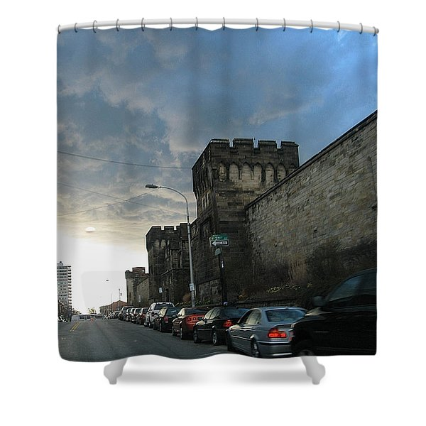 Heavy Weather Over Eastern State Shower Curtain