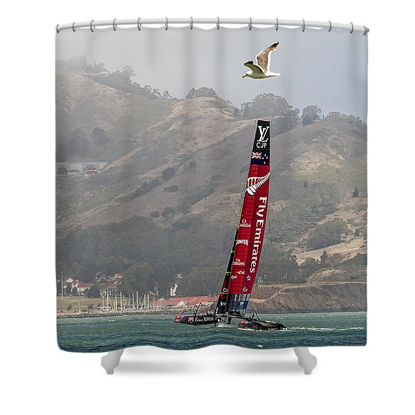 Heeling Shower Curtain