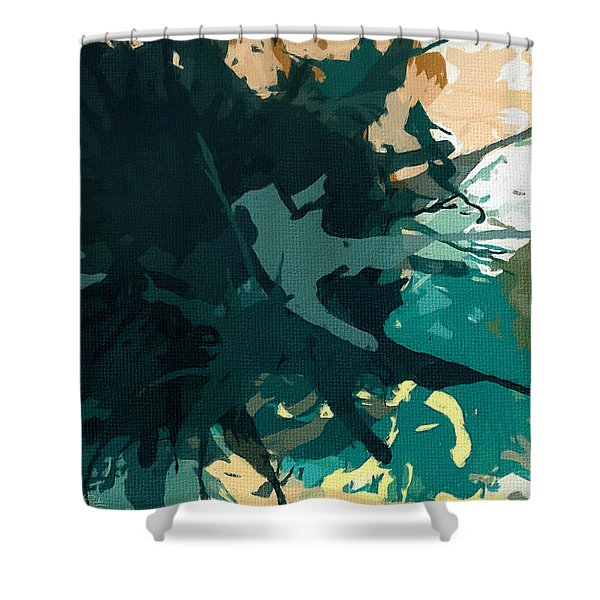 Heightened Energy Shower Curtain by Lourry Legarde