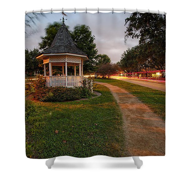Heights Boulevard Gazebo Shower Curtain