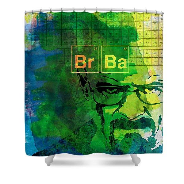 Heisenberg Watercolor Shower Curtain