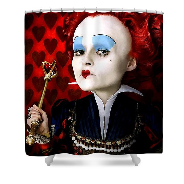 Helena Bonham Carter As The Red Queen In The Film Alice In Wonderland Shower Curtain