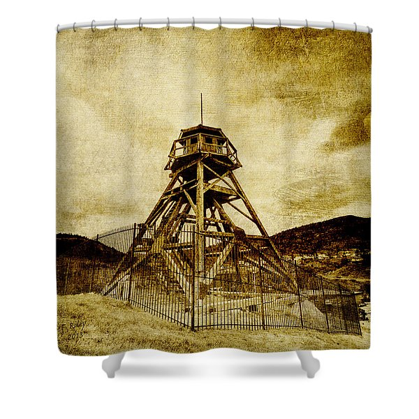 Helena-montana-fire Tower Shower Curtain