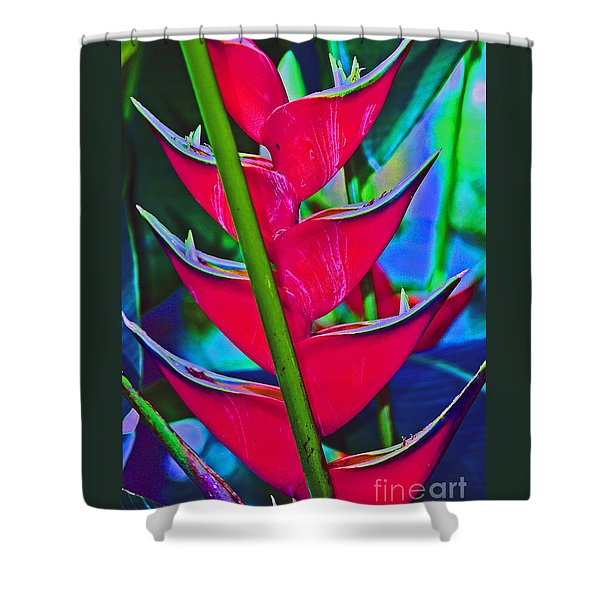 Heliconia Abstract Shower Curtain