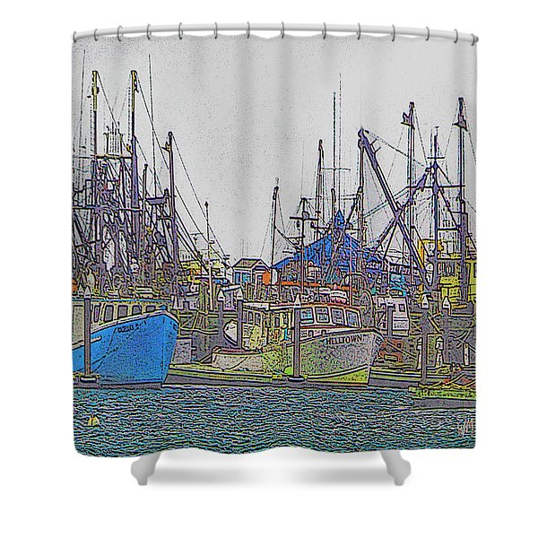Helltown Shower Curtain