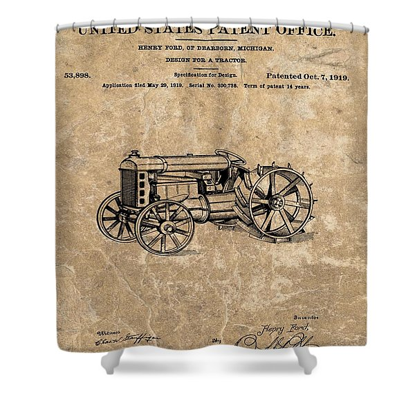 Henry Ford's Tractor Patent Shower Curtain