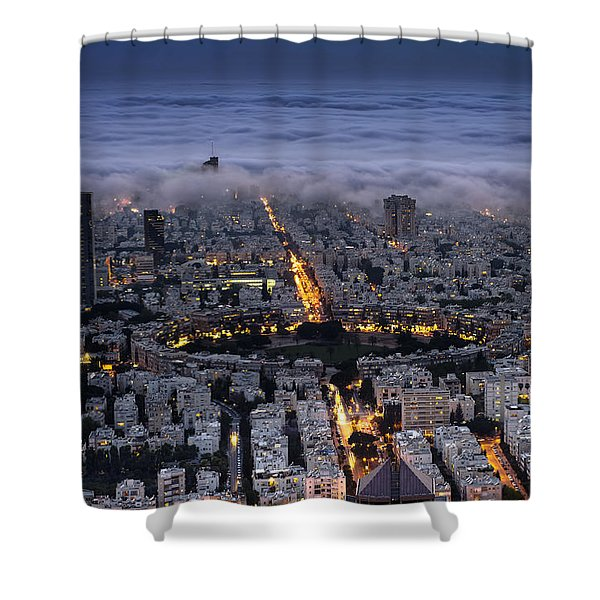 Here Comes The Fog  Shower Curtain