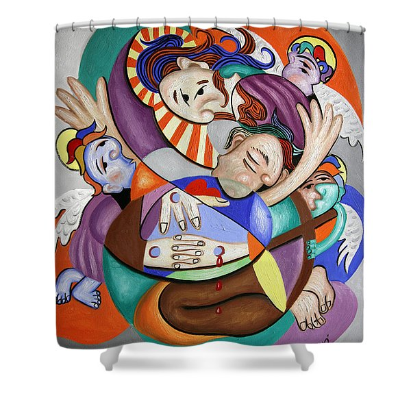 Here My Prayer Shower Curtain