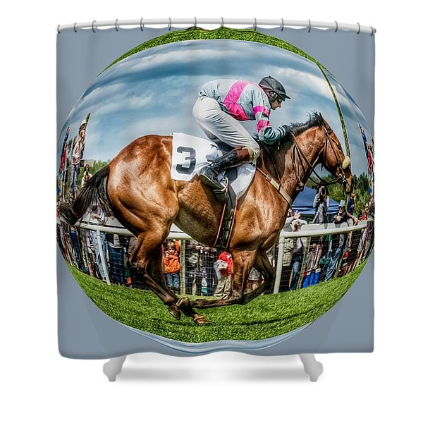 Shower Curtain featuring the photograph Here We Go Round In Circles by Robert L Jackson