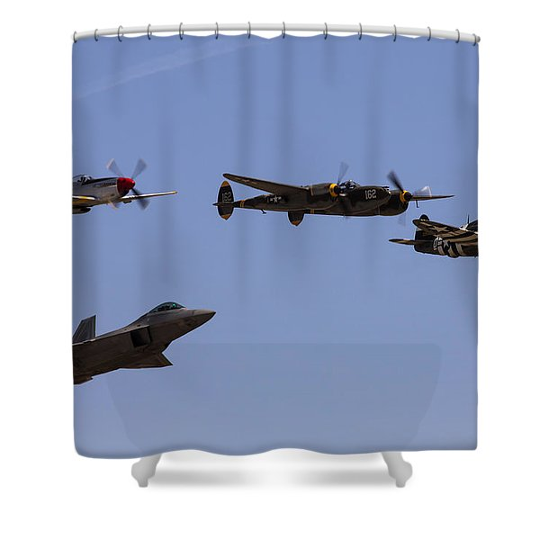 Heritage Flight Of Four Shower Curtain