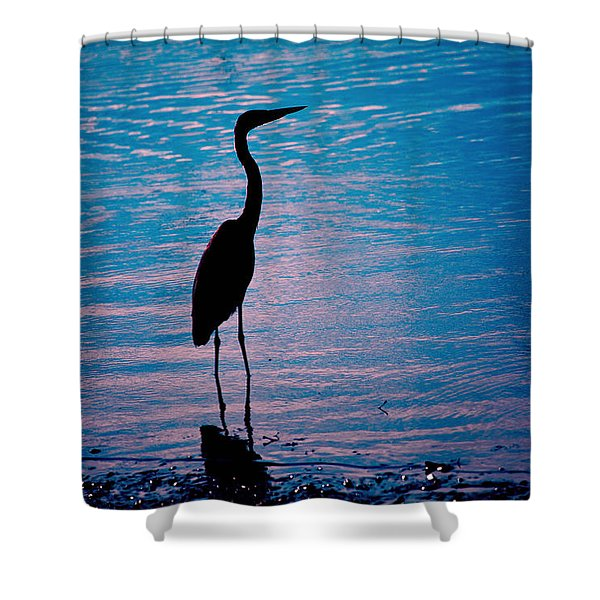 Herons Moment Shower Curtain