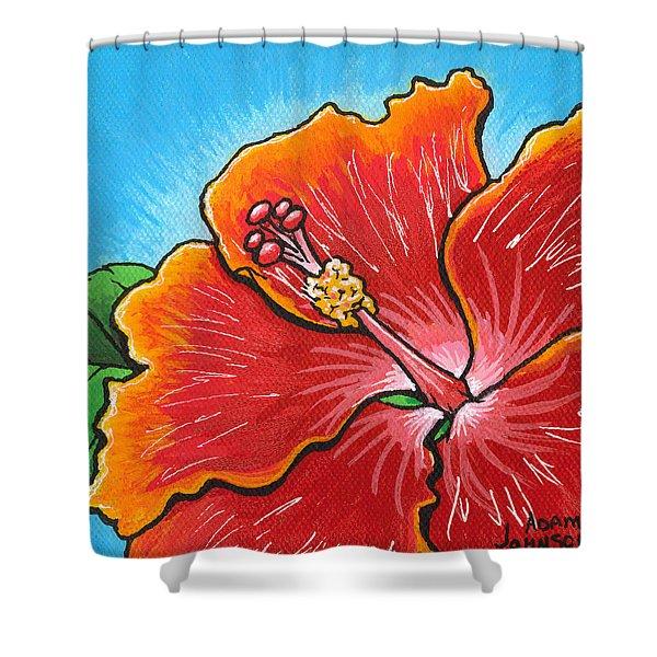 Hibiscus 06 Shower Curtain