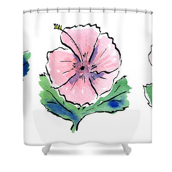 Hibiscus Trio Shower Curtain