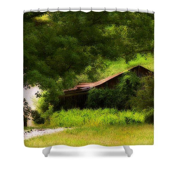 Hidden Down The Road Shower Curtain