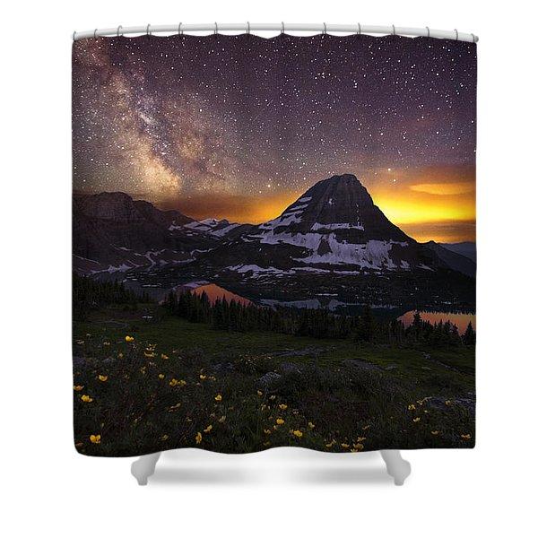 Hidden Galaxy Shower Curtain