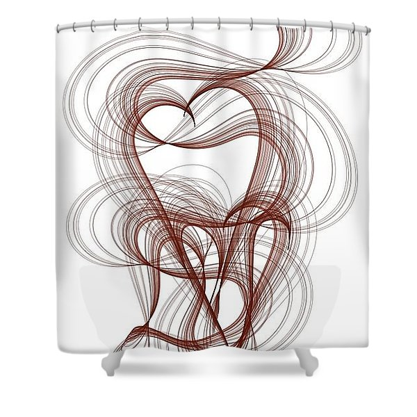Hidden Hearts Shower Curtain