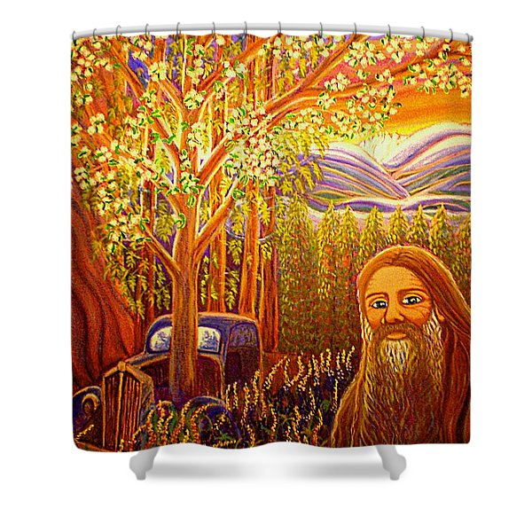 Hidden Mountain Man Shower Curtain