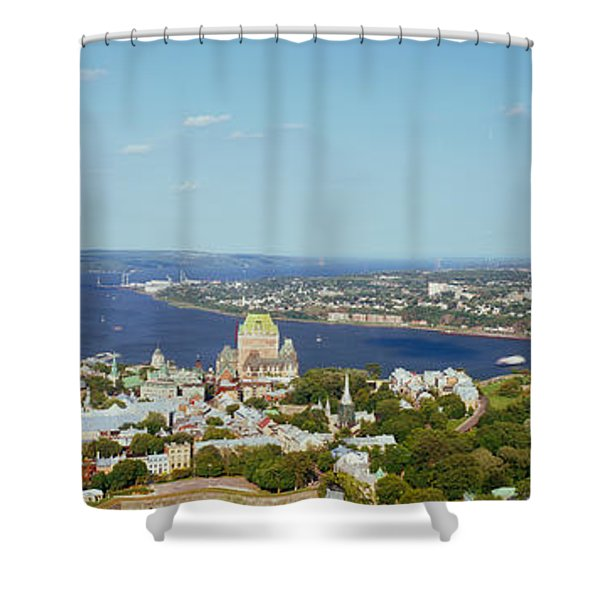 High Angle View Of A Cityscape, Chateau Shower Curtain