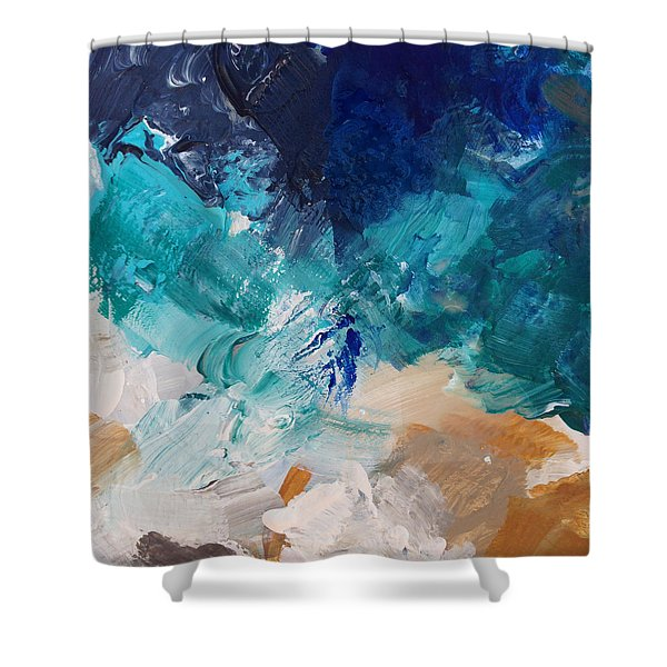 High As A Mountain- Contemporary Abstract Painting Shower Curtain