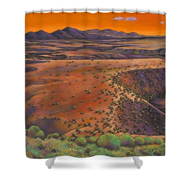 High Desert Evening Shower Curtain