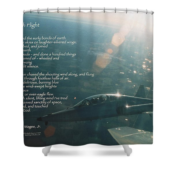High Flight T-38c Shower Curtain