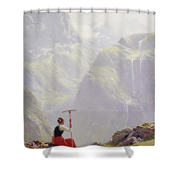 High In The Mountains Shower Curtain