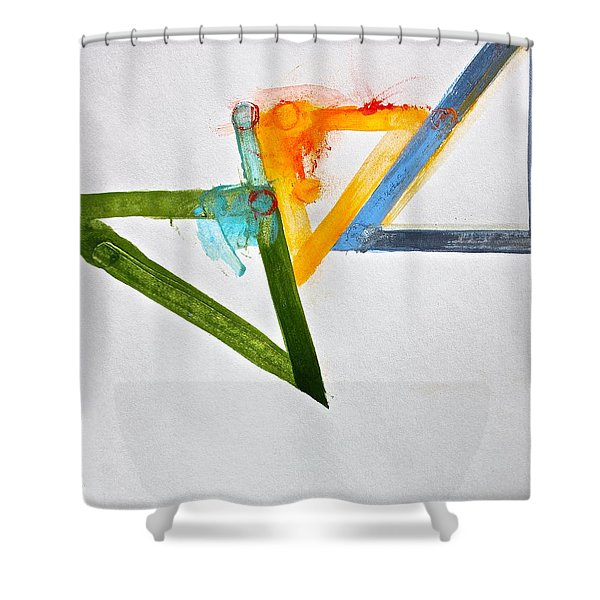 Shower Curtain featuring the painting High Noon by Cliff Spohn
