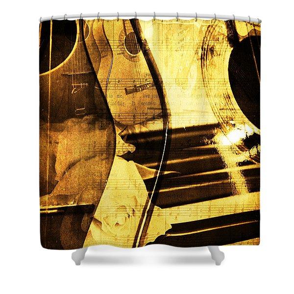High On Music Shower Curtain