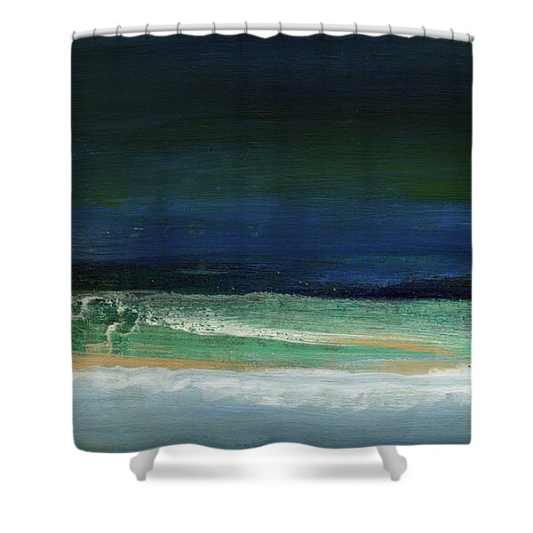 High Tide- Abstract Beachscape Painting Shower Curtain