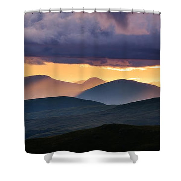 Scottish Highlands From Meall Nan Tarmachan Shower Curtain