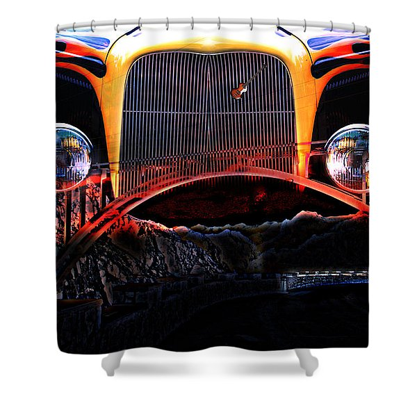 Shower Curtain featuring the photograph Highway To Hell by Gunter Nezhoda