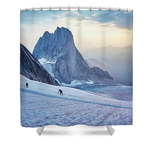 Hiking Around A Crevice Of West Ridge Shower Curtain