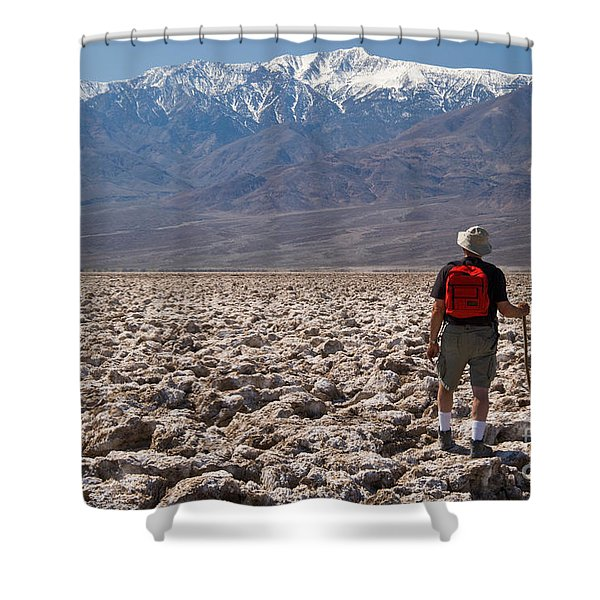 Hiking Devils Golf Course Shower Curtain
